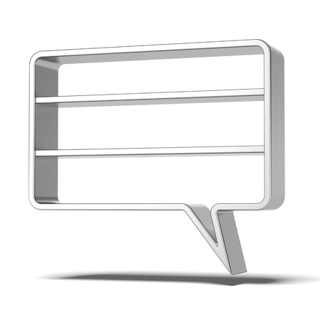 Shelves as bubbles speech isolated on a white background. 3d render photo