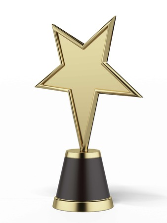 star award isolated on a white background. 3d render photo