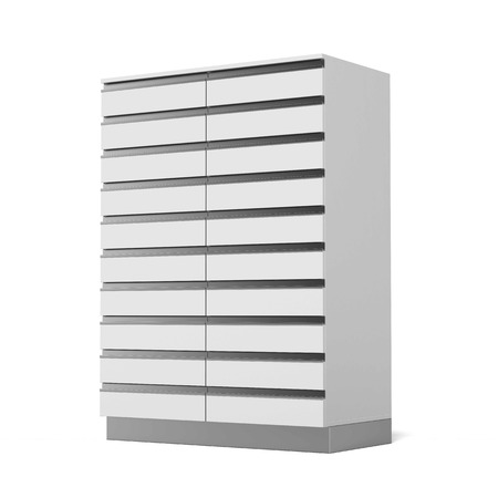 Modern cabinet isolated on a white background. 3d render photo