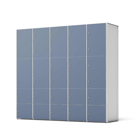 Lockers cabinets isolated on a white background. 3d render photo