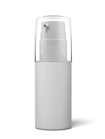 aftershave: White cosmetics container isolated on a white background. 3d render