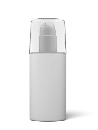 aftershave: Blank cosmetics container isolated on a white background. 3d render Stock Photo