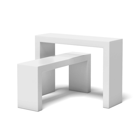 White exhibition stand isolated on a white background. 3d render Stock Photo - 23345657