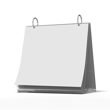 time table:  blank white paper template isolated on a white background. 3d render Stock Photo