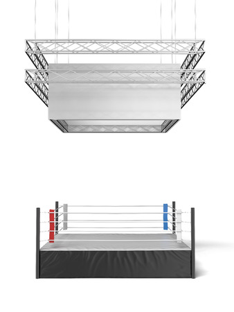 show ring: isolated on a white background. 3d render