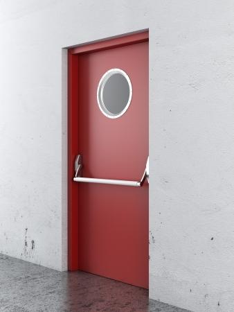 Nooduitgang deur. 3d render Stockfoto