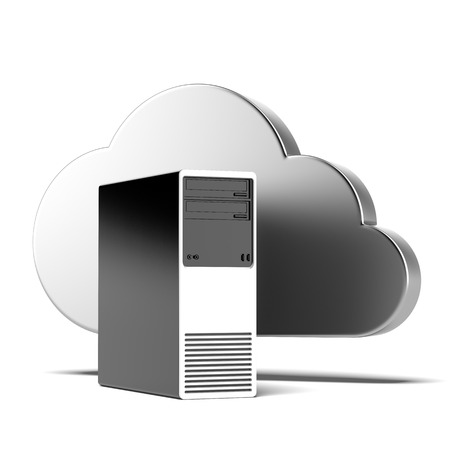 cloud computing concept  isolated on a white background. 3d render photo