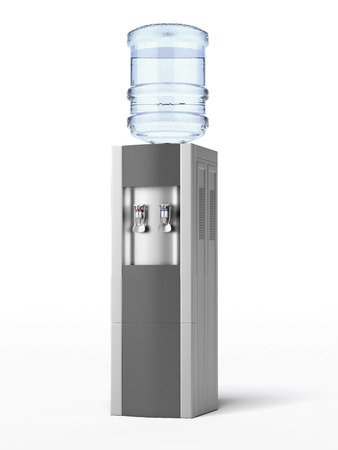 modern water cooler isolated on a white background. 3d render Stok Fotoğraf