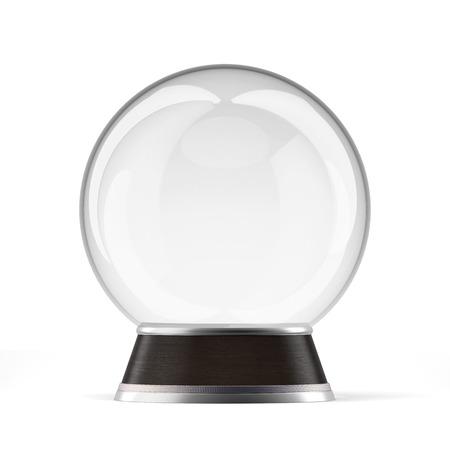 snowballs: Vuoto neve globo isolato su uno sfondo bianco. Rendering 3D