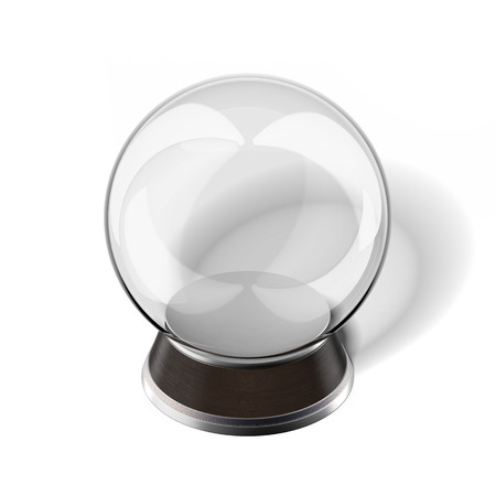 Snow globe isolated on a white background. 3d render photo