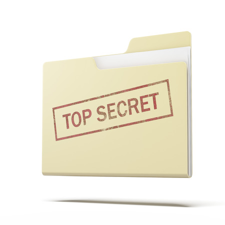 top secret folder  isolated on a white background. 3d render photo
