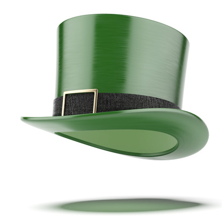 St Patricks day, green hat   isolated on a white background. 3d render photo