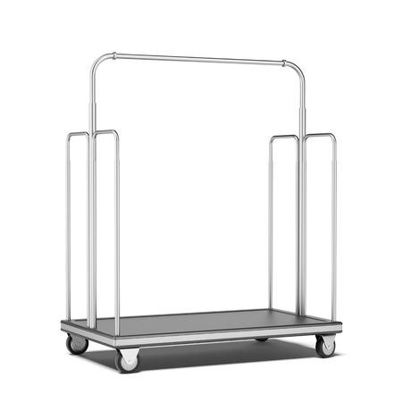 Luggage cart  isolated on a white background. 3d render photo