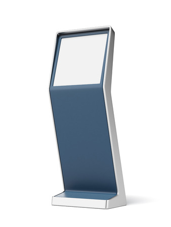 information terminal  isolated on a white background. 3d render photo