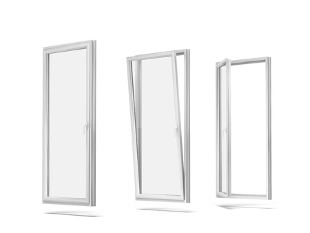 plastic windows  isolated on a white background. 3d render Stock Photo - 23767571