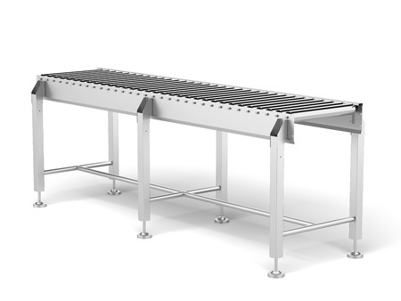 roller conveyor  isolated on a white background. 3d render photo