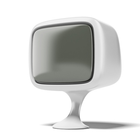 White TV of the future  isolated on a white background. 3d render photo