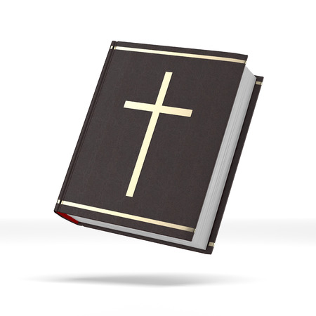 writ: Bible book  isolated on a white background. 3d render Stock Photo