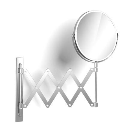 decoration objects: sliding mirror  isolated on a white background. 3d render