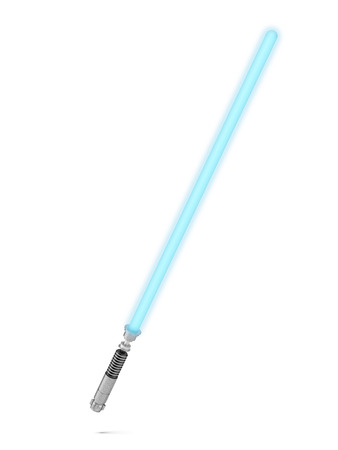 Blue lightsaber  isolated on a white background. 3d render Stock Photo - 24125805