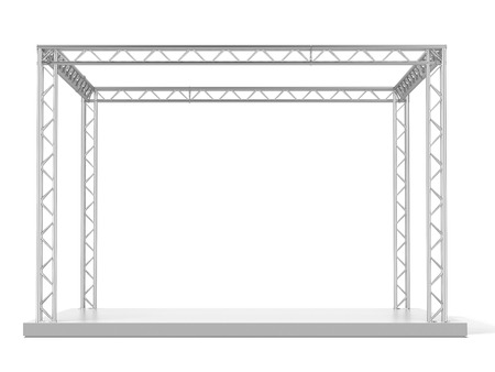 Advertizing design isolated on a white background. 3d render