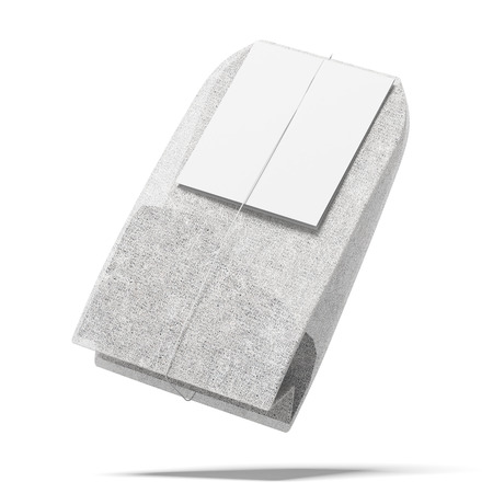 teabag: Tea bag isolated on a white background. 3d render Stock Photo