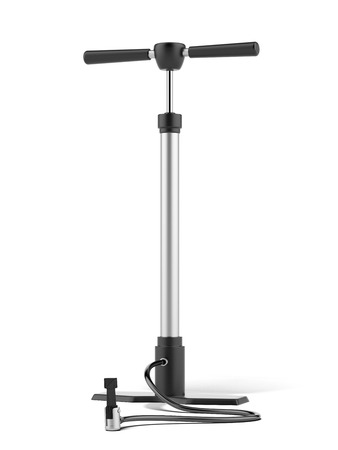 Large hand pump isolated on a white background. 3d render photo
