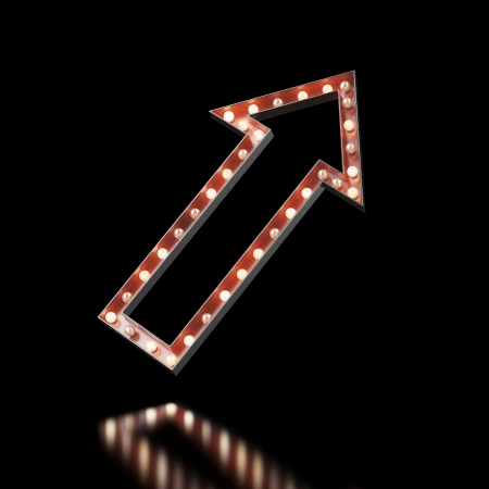 red arrow sign isolated on a white . 3d render photo