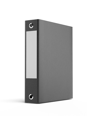 black binder isolated on a white . 3d render
