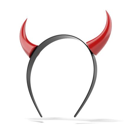 devil horns: Devils horns head gear isolated on a white . 3d render