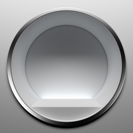 forepart: Empty round showcase isolated on a white background. 3d render