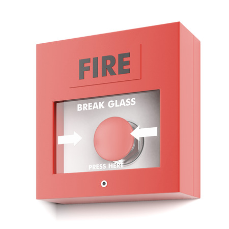 Fire alarm  isolated on a white background. 3d render photo