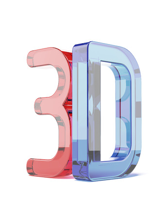 Glass 3D isolated on a white background. 3d render photo