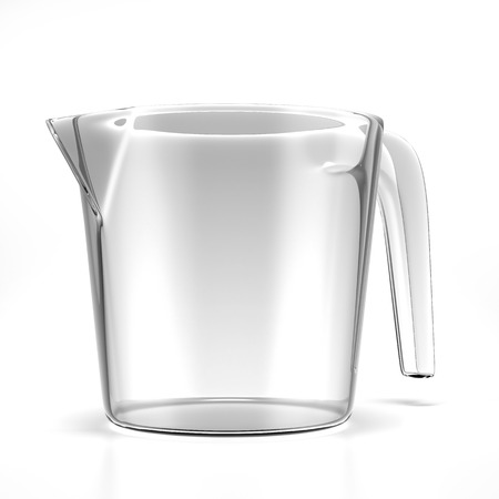 Empty measuring cup  isolated on a white background. 3d render photo