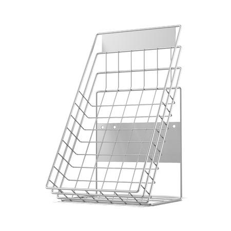 Metal showcase isolated on a white background. 3d render photo
