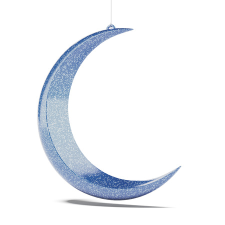 Blue moon isolated on a white background. 3d render