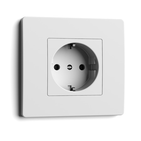 socket: convenience outlet isolated on a white background. 3d render