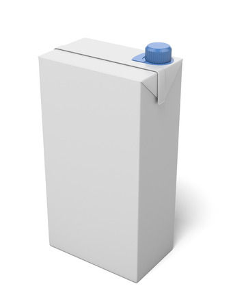 carton: milk package isolated on a white background. 3d render