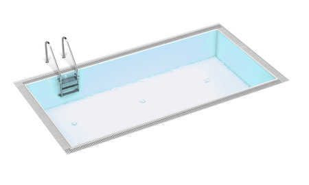 3d swimming pool: Swimming pool isolated on a white background. 3d render Stock Photo
