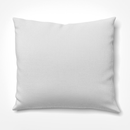 pillow case: White pillow isolated on a white background. 3d render