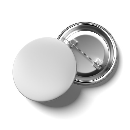 back button: Blank badges  isolated on a white background. 3d render