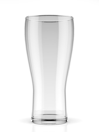 pint glass: Empty beer glass isolated on a white background. 3d render