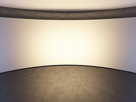 blank white photo studio wall. 3d render photo