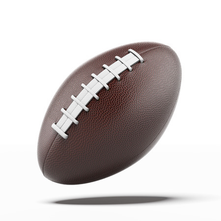 pelota de rugby: Pelota de rugby aislado en un fondo blanco. 3d