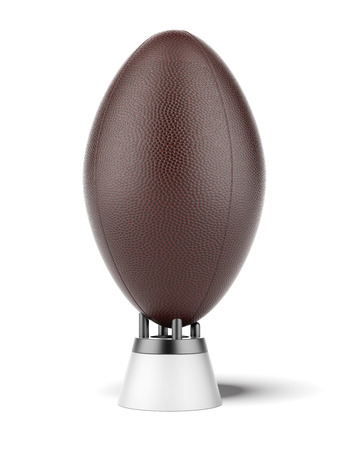 uprights: kicking tee with rugby ball isolated on a white background. 3d render