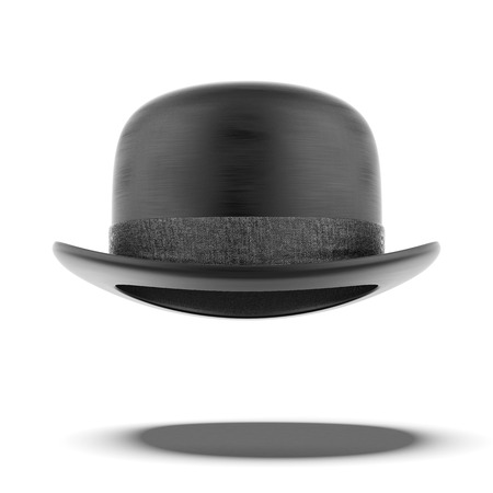 derby hat:  bowler hat  isolated on a white background. 3d render