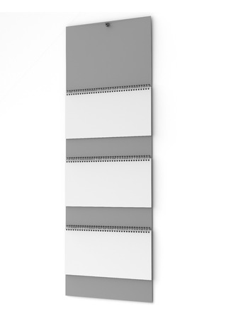 quarterly: Blank wall quarterly calendar  isolated on a white background. 3d render