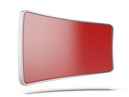 Red  light billboard isolated on a white background. 3d render photo
