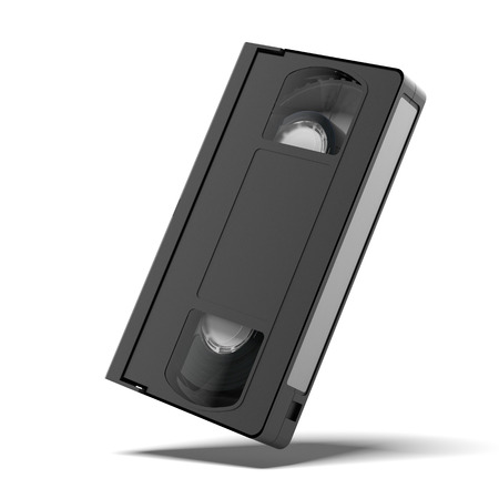 vhs videotape: classic vhs cassette  isolated on a white background. 3d render