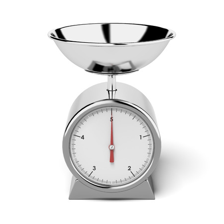 kitchen scale: kitchen scales  isolated on a white background. 3d render